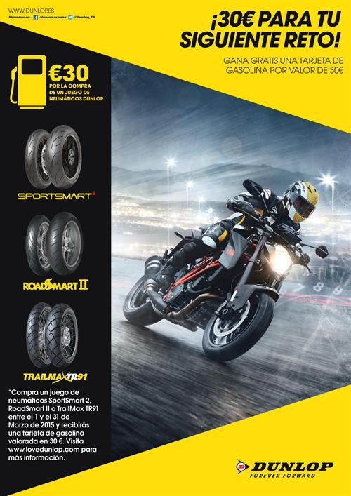 Dunlop regala 30 € en carburant