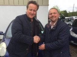 David Cameron i Ian Harris