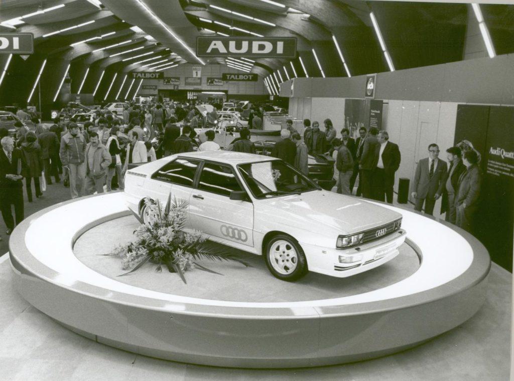 L'Audi Quattro el dia que va ser presentat a Ginebra fa 40 anys