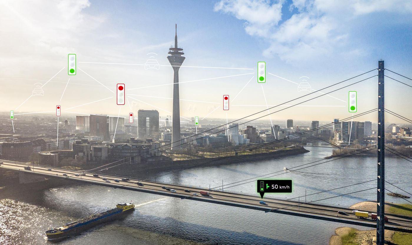 Audi connecta la xarxa de semàfors de Düsseldorf