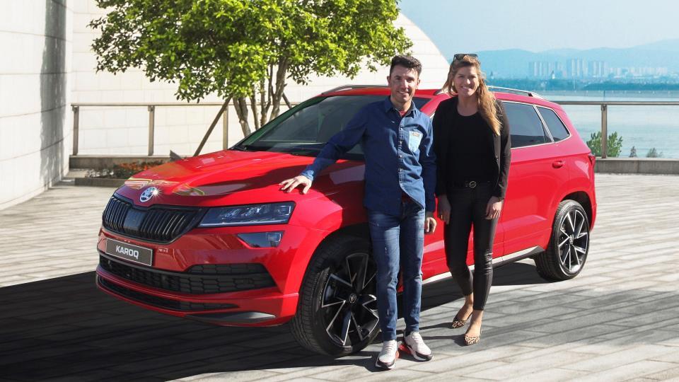 Purito Rodríguez i Sandra Jordà ja gaudeixen dels seus Skoda com ambaixadors de la marca