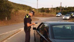 La policia fa un control