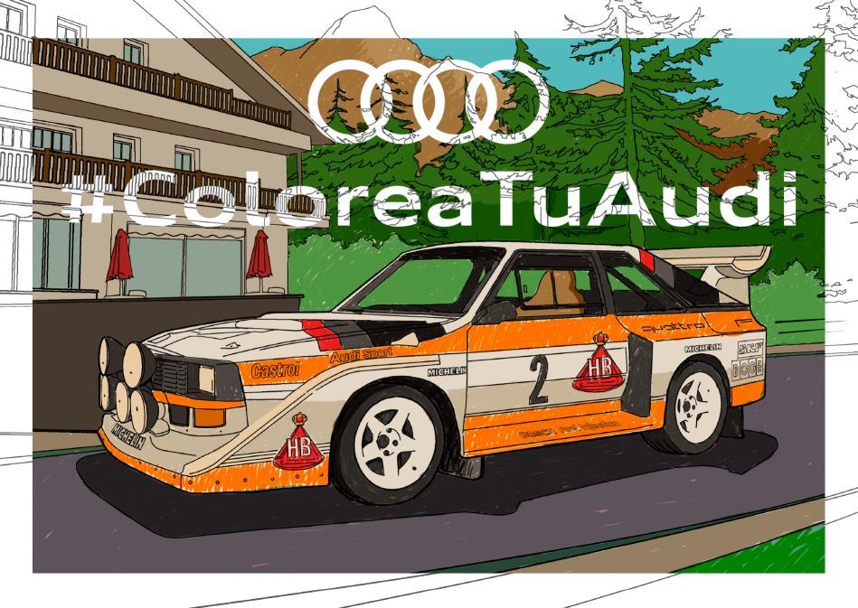 Audi crea il·lustracions dels seus models més icònics per pintar a casa
