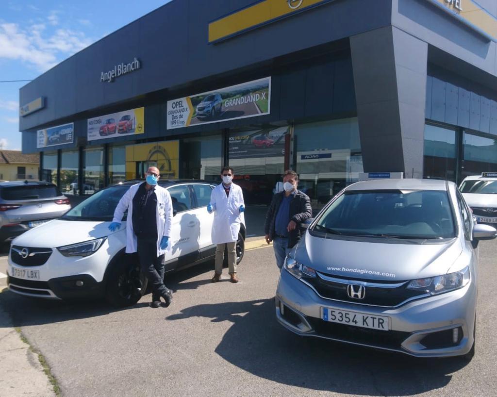 Opel Angel Blanch i Honda Lluís Blanch cedeixen vehicles als sanitaris de Girona