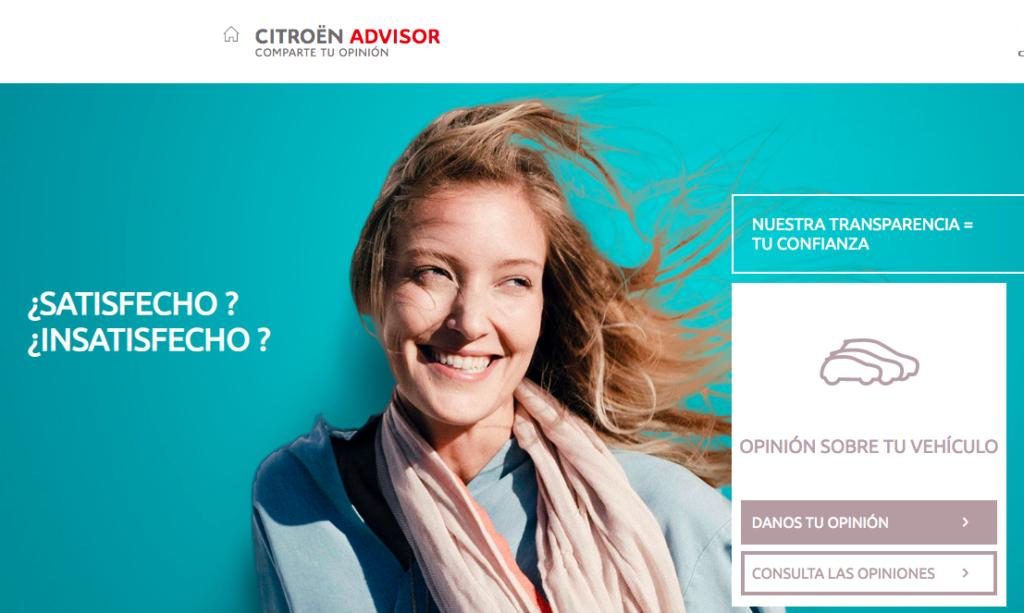 Web de Citroën Advisor
