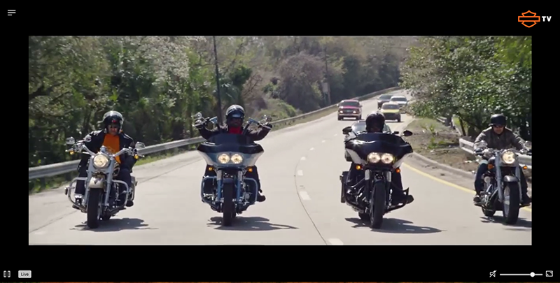 Harley Davidson estrena el seu canal de televisió en streaming