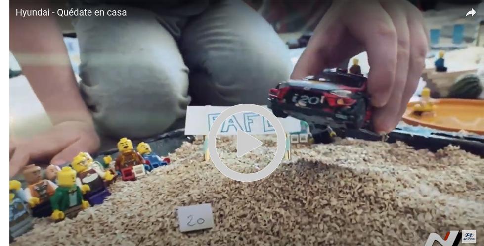 VÍDEO Hyundai recrea el WRC en un vídeo casolà