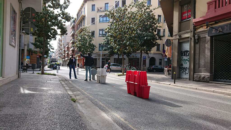 Girona amplia les zones d'ús per a vianants als carrers