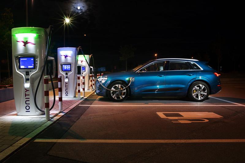 La recàrrega d'alt rendiment dels models Audi e-tron