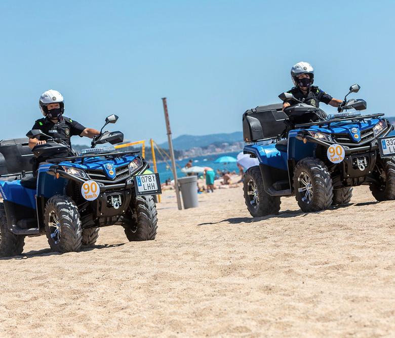 La policia local de Castell d'Aro, Platja d'Aro i s'Agaró estrena nous models de quads