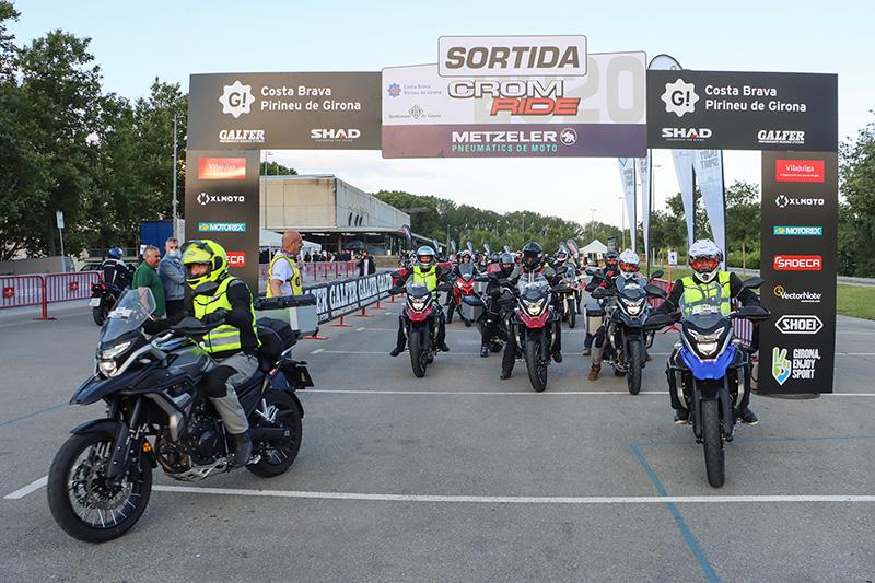Més de 500 participants van certificar l'èxit de la quarta edició de la Crom Ride