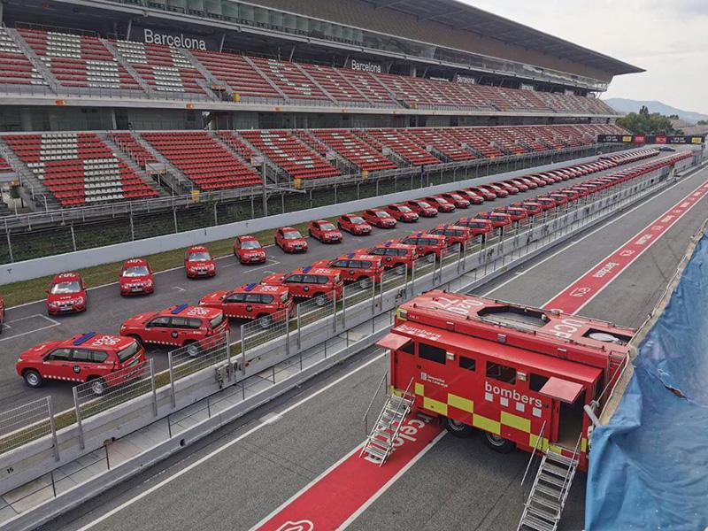 Lliurament dels nous vehicles dels Bombers de la Generalitat