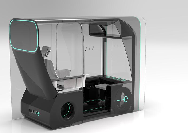 Un concept de taxi autònom, premi Ford 'New designers'