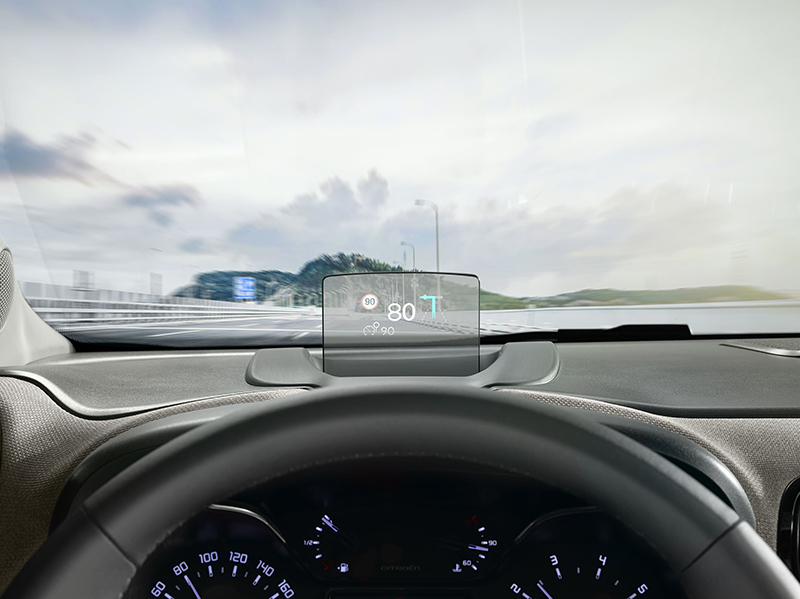 Tecnologia de seguretat Head Up Display per no apartar mai la vista de la carretera