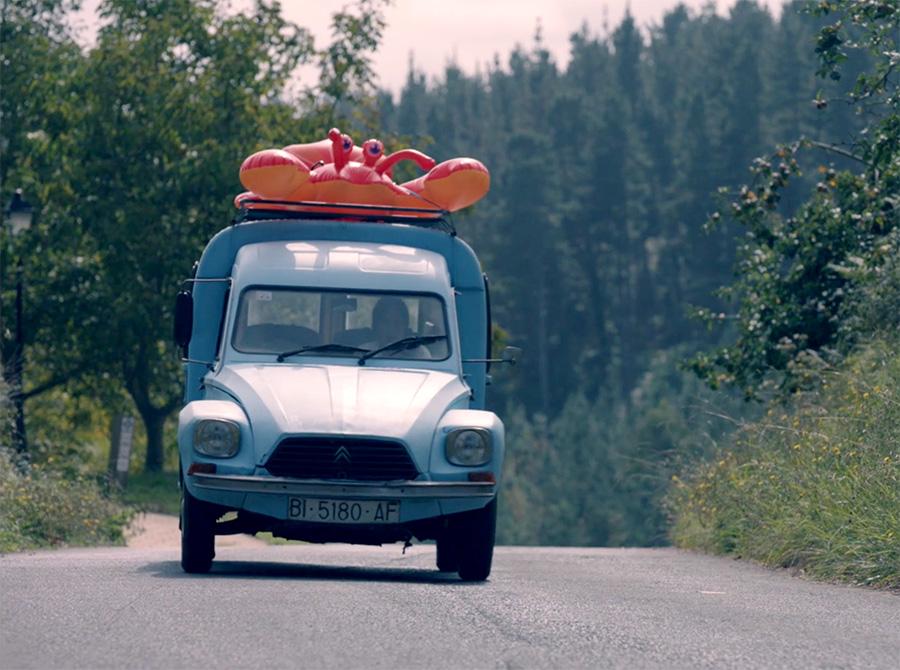 "La furgoneta Citroën Dyane protagonista en el film ""Nora"""