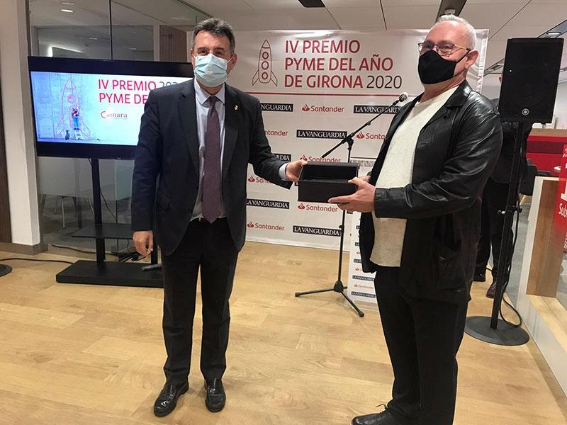 TEISA rep el Premi Pime de l'Any 2020 de Girona