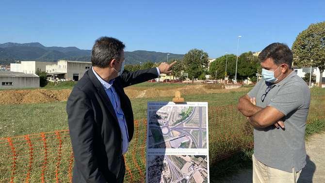 Es millorarà l'accés nord de Banyoles amb una nova rotonda