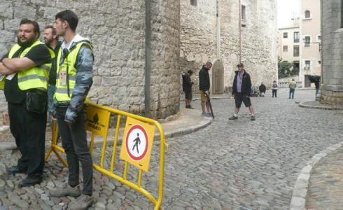 Afectacions circulatòries al Barri Vell i al Mercadal de Girona per un rodatge cinematogràfic