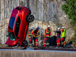 Volvo Cars drops new cars from 30 metres to help rescue services