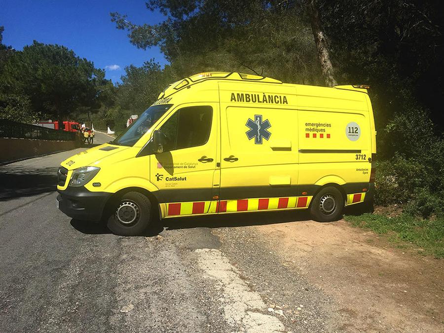 Mor un motorista en una sortida de via a la GI-681 a Llagostera