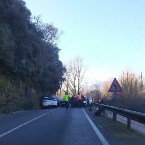 Accident múltiple a Bescanó