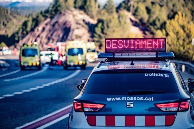 Mor la passatgera davantera d'un turisme arran d'una col·lisió frontal a l'N-II a Vidreres (Selva)