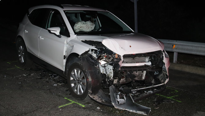 Accident frontal a la carretera N-260, a Beuda