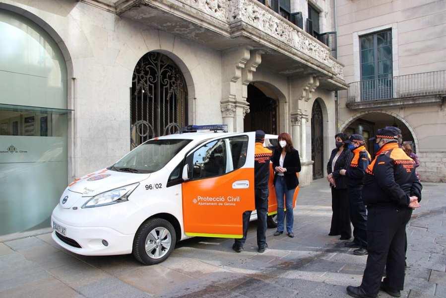 L'Ajuntament de Girona adquireix un vehicle elèctric per a l'Associació de Voluntaris de Protecció Civil