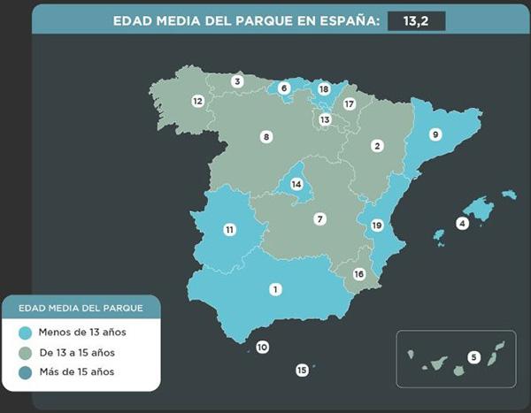 L'edat mitjana del parc automobilístic a Catalunya es situa en els 12,1 anys