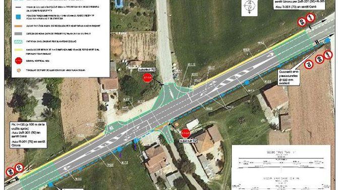 Territori invertirà 215.985 euros en la regulació semafòrica de la cruïlla entre la C-255 i la carretera de Campdorà