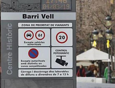 La càmera de control d'accés al Barri Vell de Girona s'ha tornat a activar